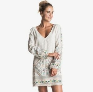 Roxy April Morning Long Sleeve Dress Medium